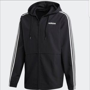 NWT Men's Adidas Windbreaker Hoodie Jacket